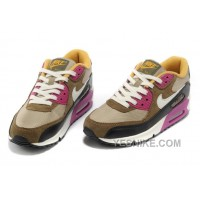 Big Discount ! 66% OFF! Nike Air Max 90 Womens Brown Black Friday Deals 2016[XMS1912]