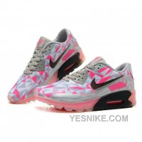 Big Discount ! 66% OFF! Nike Air Max 90 Womens Pink Flower Black Friday Deals 2016[XMS1915]