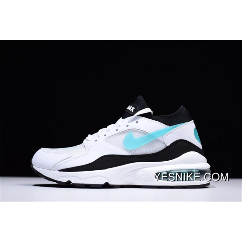 Nike Air Max 93 White Blue Zoom Cushioning Men Sport Shoes 306551-107 For  Sale ... f717d4564
