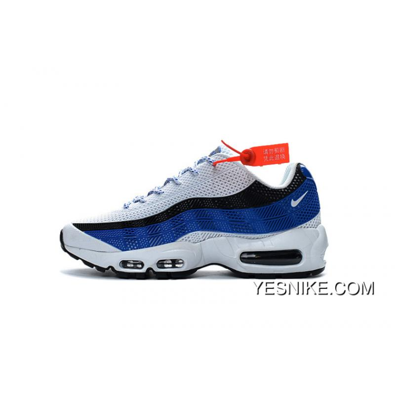 For Sale Hot Sale Nike AIR MAX 95 Classic Retro Shoes Nanotechnology KPU  Material Durable Non-rupture White Black Navy Blue