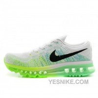 Big Discount ! 66% OFF! Soldes Vente Pas Cher Femme Nike Air Max Flyknit Blanche Vert Baskets France