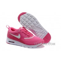 Big Discount ! 66% OFF! Soldes Poids Leger Femme Nike Air Max Thea Baskets Rose/Blanche Magasin