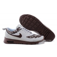 Big Discount ! 66% OFF! Soldes Trouver Un Grand Stock De Femme Nike Air Max Thea Chaussures Leopard Blanche/Brun 2016