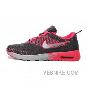 design de qualité 8d3c3 b7cc2 Big Discount ! 66% OFF! Soldes Qualite Superieure Femme Nike Air Max Thea  Flyknit Baskets Charcoal Rose 2016