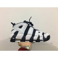 Big Discount ! 66% OFF! Nike Air More Uptempo Pippen Black AIR White Blue Half Size Available