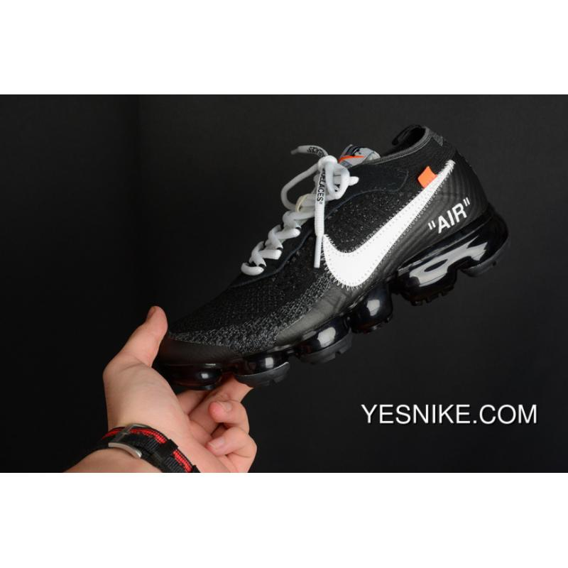 36cbd2ab49 AA3831-001 Off WHITE Collaboration Nike Air Max Vapor Flyknit Zoom Air 2018  Black And ...