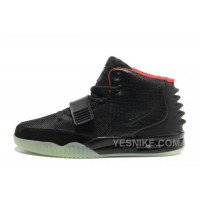 Big Discount ! 66% OFF! Nike Air Yeezy 2 Black/Solar Red Glow In The Dark 309608