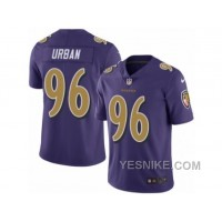Big Discount ! 66% OFF ! Men's Nike Baltimore Ravens #96 Brent Urban Elite Purple Rush NFL Jersey