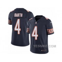 Big Discount ! 66% OFF ! Men's Nike Chicago Bears #4 Connor Barth Elite Navy Blue Rush NFL Jersey