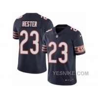 Big Discount ! 66% OFF ! Men's Nike Chicago Bears #23 Devin Hester Elite Navy Blue Rush NFL Jersey