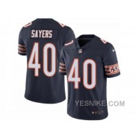 Big Discount ! 66% OFF ! Men's Nike Chicago Bears #40 Gale Sayers Elite Navy Blue Rush NFL Jersey