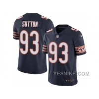 Big Discount ! 66% OFF ! Men's Nike Chicago Bears #93 Will Sutton Elite Navy Blue Rush NFL Jersey