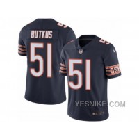 Big Discount ! 66% OFF ! Men's Nike Chicago Bears #51 Dick Butkus Limited Navy Blue Rush NFL Jersey