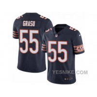 Big Discount ! 66% OFF ! Men's Nike Chicago Bears #55 Hroniss Grasu Limited Navy Blue Rush NFL Jersey