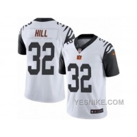 Big Discount ! 66% OFF ! Men's Nike Cincinnati Bengals #32 Jeremy Hill Limited White Rush NFL Jersey