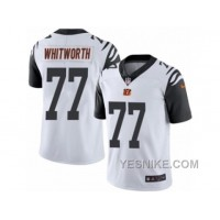 Big Discount ! 66% OFF ! Men's Nike Cincinnati Bengals #77 Andrew Whitworth Limited White Rush NFL Jersey