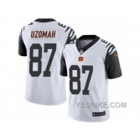 Big Discount ! 66% OFF ! Men's Nike Cincinnati Bengals #87 C.J. Uzomah Limited White Rush NFL Jersey