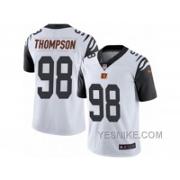 Big Discount ! 66% OFF ! Men's Nike Cincinnati Bengals #98 Brandon Thompson Limited White Rush NFL Jersey