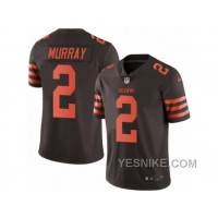 Big Discount ! 66% OFF ! Men's Nike Cleveland Browns #2 Patrick Murray Elite Brown Rush NFL Jersey
