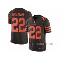 Big Discount ! 66% OFF ! Men's Nike Cleveland Browns #22 Tramon Williams Limited Brown Rush NFL Jersey