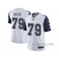 Big Discount ! 66% OFF ! Men's Nike Dallas Cowboys #79 Chaz Green Limited White Rush NFL Jersey