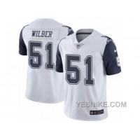 Big Discount ! 66% OFF ! Men's Nike Dallas Cowboys #51 Kyle Wilber Limited White Rush NFL Jersey