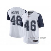 Big Discount ! 66% OFF ! Men's Nike Dallas Cowboys #46 Alfred Morris Elite White Rush NFL Jersey