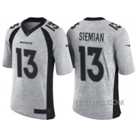 Big Discount ! 66% OFF ! Nike Denver Broncos #13 Trevor Siemian 2016 Gridiron Gray II Men's NFL Limited Jersey
