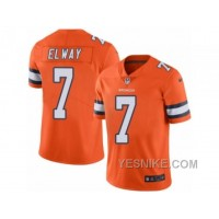 Big Discount ! 66% OFF ! Men's Nike Denver Broncos #7 John Elway Elite Orange Rush NFL Jersey