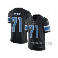Big Discount ! 66% OFF ! Men's Nike Detroit Lions #71 Riley Reiff Elite Black Rush NFL Jersey