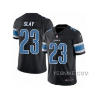 Big Discount ! 66% OFF ! Men's Nike Detroit Lions #23 Darius Slay Limited Black Rush NFL Jersey