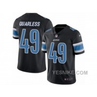 Big Discount ! 66% OFF ! Men's Nike Detroit Lions #49 Andrew Quarless Limited Black Rush NFL Jersey