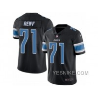 Big Discount ! 66% OFF ! Men's Nike Detroit Lions #71 Riley Reiff Limited Black Rush NFL Jersey