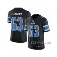 Big Discount ! 66% OFF ! Men's Nike Detroit Lions #63 Brandon Thomas Limited Black Rush NFL Jersey