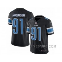 Big Discount ! 66% OFF ! Men's Nike Detroit Lions #91 A'Shawn Robinson Limited Black Rush NFL Jersey