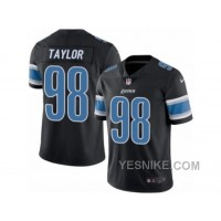 Big Discount ! 66% OFF ! Men's Nike Detroit Lions #98 Devin Taylor Limited Black Rush NFL Jersey