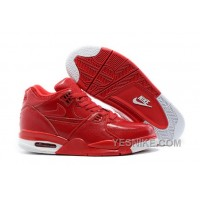 Big Discount ! 66% OFF! Nike Air Flight '89 Red Leather Basketball Shoes For Sale
