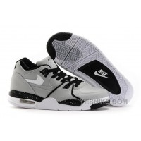 Big Discount ! 66% OFF! Nike Air Flight '89 Wolf Grey/Black-White Shoes 312199