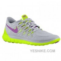 Big Discount ! 66% OFF! Nike Free 5.0 Womens Grey Yellow Black Friday Deals 2016[XMS1146]
