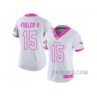 Big Discount! 66% OFF! Women's Nike Houston Texans #15 Will Fuller V Limited Rush Fashion Pink NFL Jersey