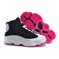 Big Discount! 66% OFF! Kids Jordan 13 Hyper Pink Black White