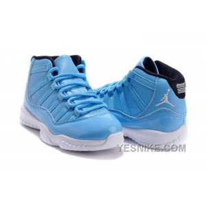 Big Discount! 66% OFF! Kids Jordan 11 XI University Blue/Black-White