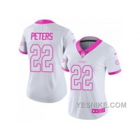 Big Discount ! 66% OFF ! Women's Nike Kansas City Chiefs #22 Marcus Peters White Pink Stitched NFL Limited Rush Fashion Jersey