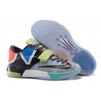 """Big Discount ! 66% OFF! Nike KD 7 """"What The"""" Multi-Color/Horizon-Black 309622"""
