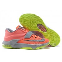 "Big Discount ! 66% OFF! Nike Kevin Durant KD 7 VII ""35000 Degrees"" Bright Mango/Space Blue/Light Magnet Grey For Sale"
