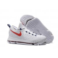 "Big Discount ! 66% OFF! Nike KD 9 ""USA"" Mens Basketball Shoes"