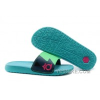Big Discount ! 66% OFF! Nike KD Slide Slippers May Green For Sale