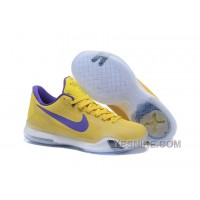 "Big Discount ! 66% OFF! Kobe 10 Safari Print ""Yellow Purple"" For Sale 310840"