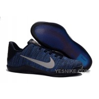 Big Discount ! 66% OFF! Nike Kobe 11 Flyknit Blue Basketball Shoes 309664