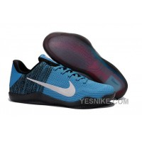Big Discount ! 66% OFF! Nike Kobe 11 Unvieled Gym Blue-White Basketball Shoes For Sale